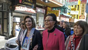 Nancy Pelosi visits San Francisco's Chinatown
